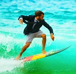 surfer in a suit